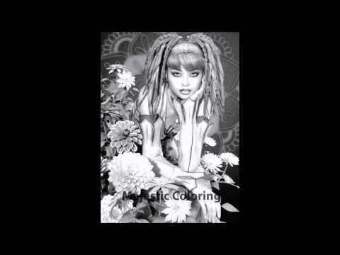Fabulous females grayscale image coloring book for adults Grayscale coloring books for adults
