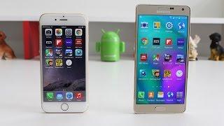 Samsung Galaxy A7 vs iPhone 6 Speed Test 4K