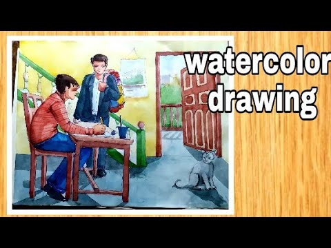 watercolor painting for beginners / watercolor tutorial / #watercolordrawing #drawing #art thumbnail