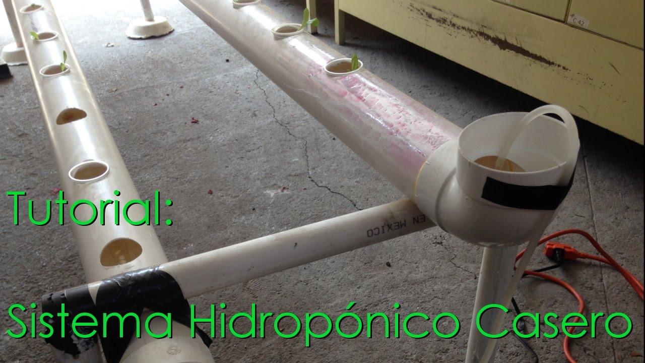 Tutorial construcci n de un sistema hidrop nico casero for Construccion de viveros caseros