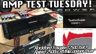 Amp Test Tuesday! Constant POWER! Rockford Fosgate T2500.1bd CP - SMD AD-1 Amp Dyno