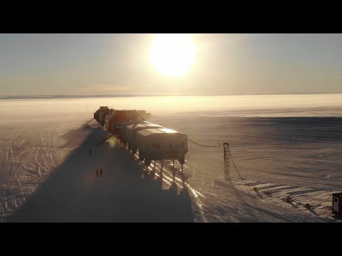 Inside Halley, the British station in Antarctica