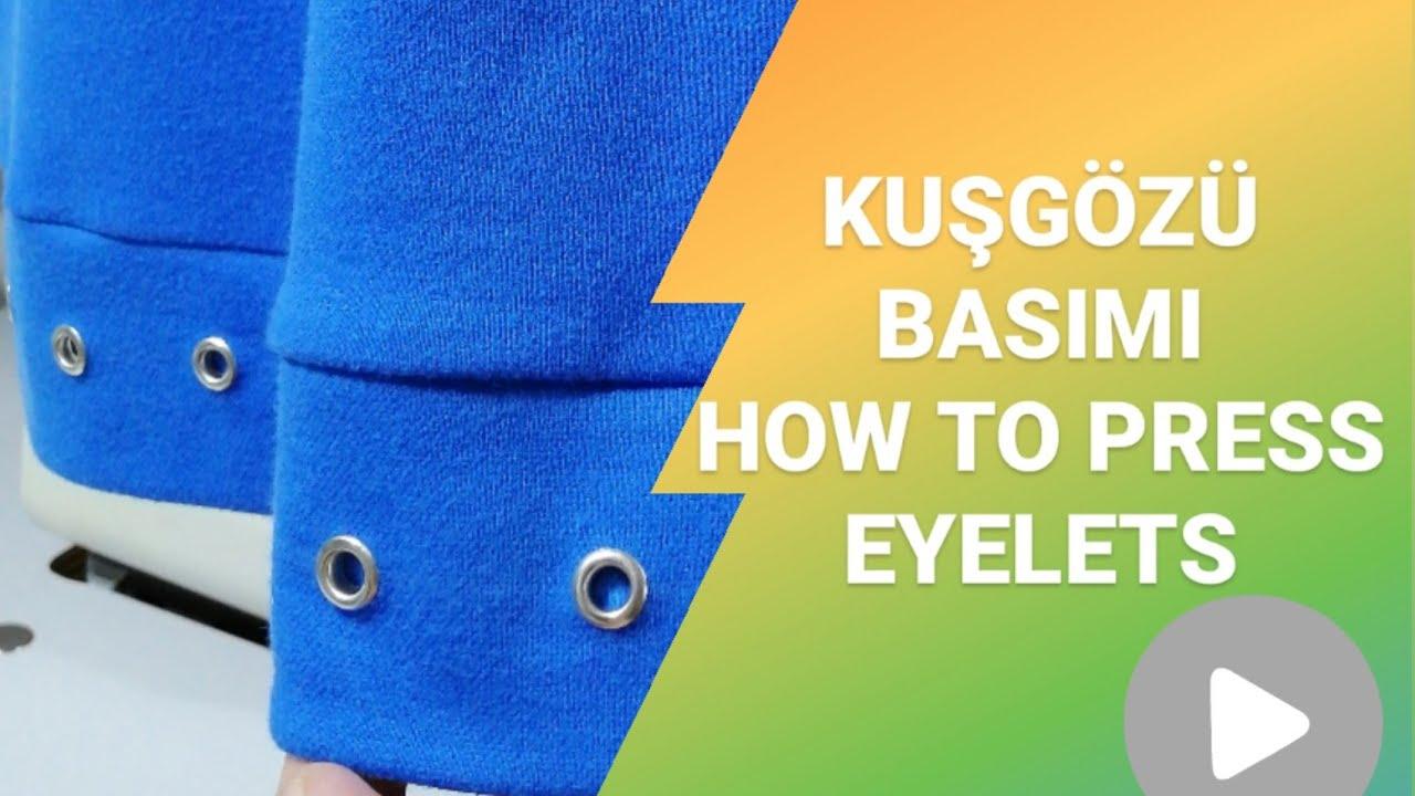KUŞGÖZÜ BASIMI-Çıtçıt Makinası ile Kuşgözü Nasılır yapılır?(Portable Eyelets Machine)