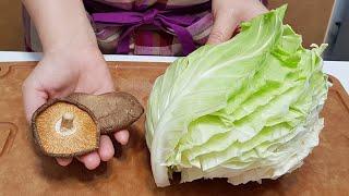 素食家常菜料理│高麗菜別煮湯,加兩朵香菇,酥脆爽口,好吃到一出鍋就掃光│Vegan Recipe │EP167
