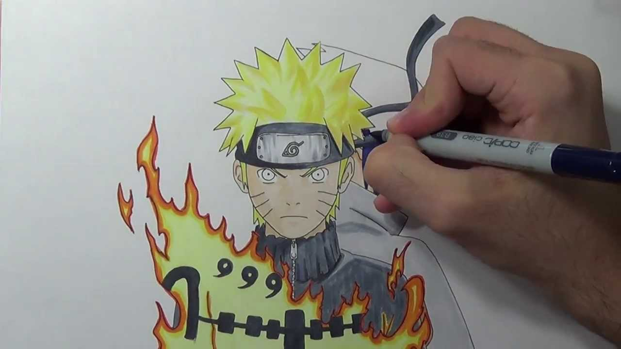 Drawing naruto and sasuke youtube