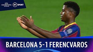 Barcelona v Ferencváros (5-1) Champions League Highlights