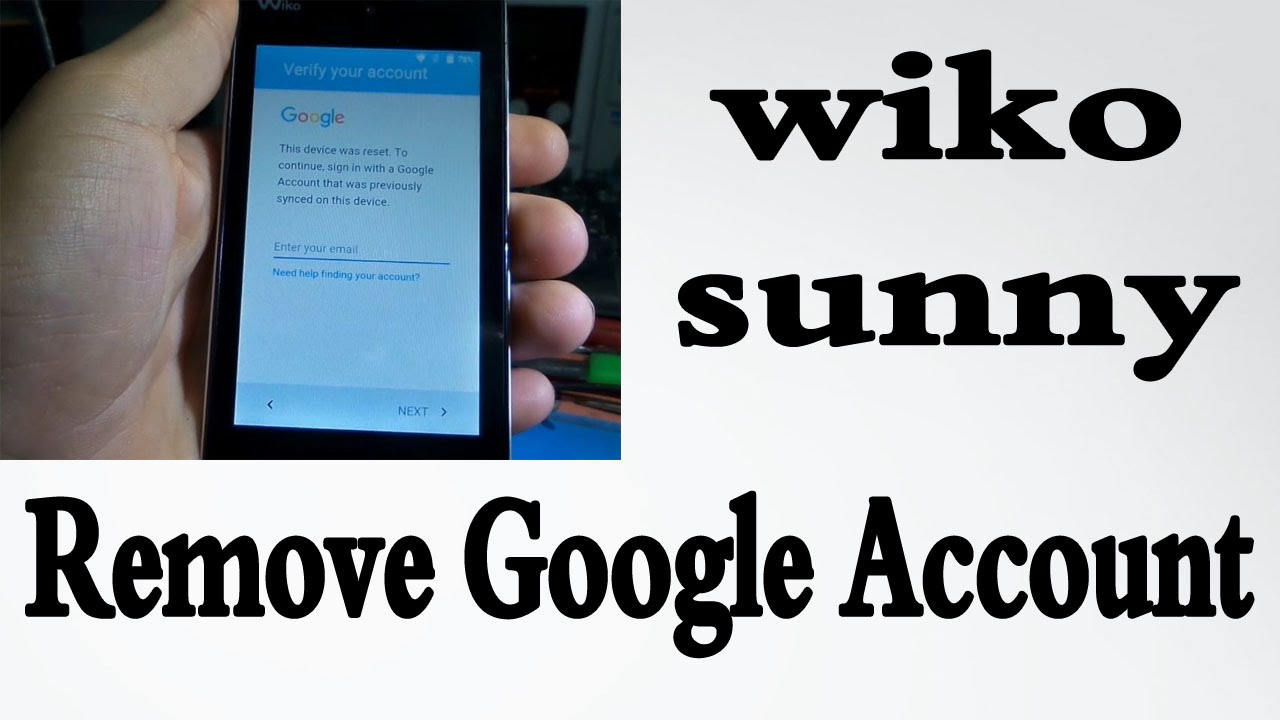 wiko sunny How to reset FRP lock Remove Google Account
