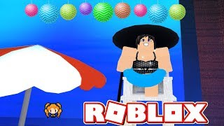 ROBLOX DANCE YOUR BLOX OFF BEACH DAY! 🏝️ I ALMOST MISSED MY DANCE, RUSHING! + I FELL, RUINED IT 😒
