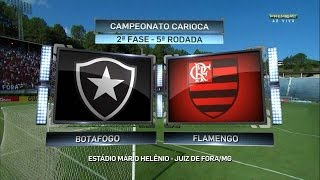 Jogo completo Botafogo 2 x 2 Flamengo - Taça Guanabara 2016