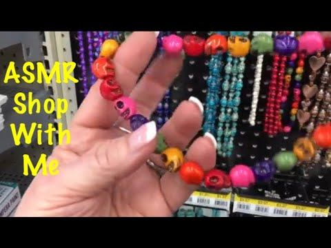 ASMR Shop with me at Walmart start to finish (Slight whispers at the beginning) Extreme crinkles