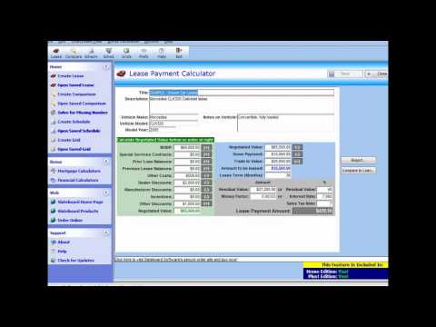 Car Lease Calculator Car Lease Calculator Excel YouTube – Lease Payment Calculator
