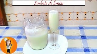 Sorbete de limón | Receta de Cocina en Familia