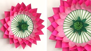 Lotus Wall Hanging | Paper Flower Wall Hanging | Wall Decor ideas