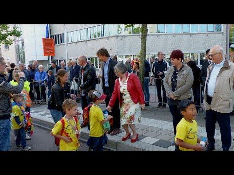 Burgemeester Salet onthaalt lopertjes minivierdaagse / Spijkenisse 2018