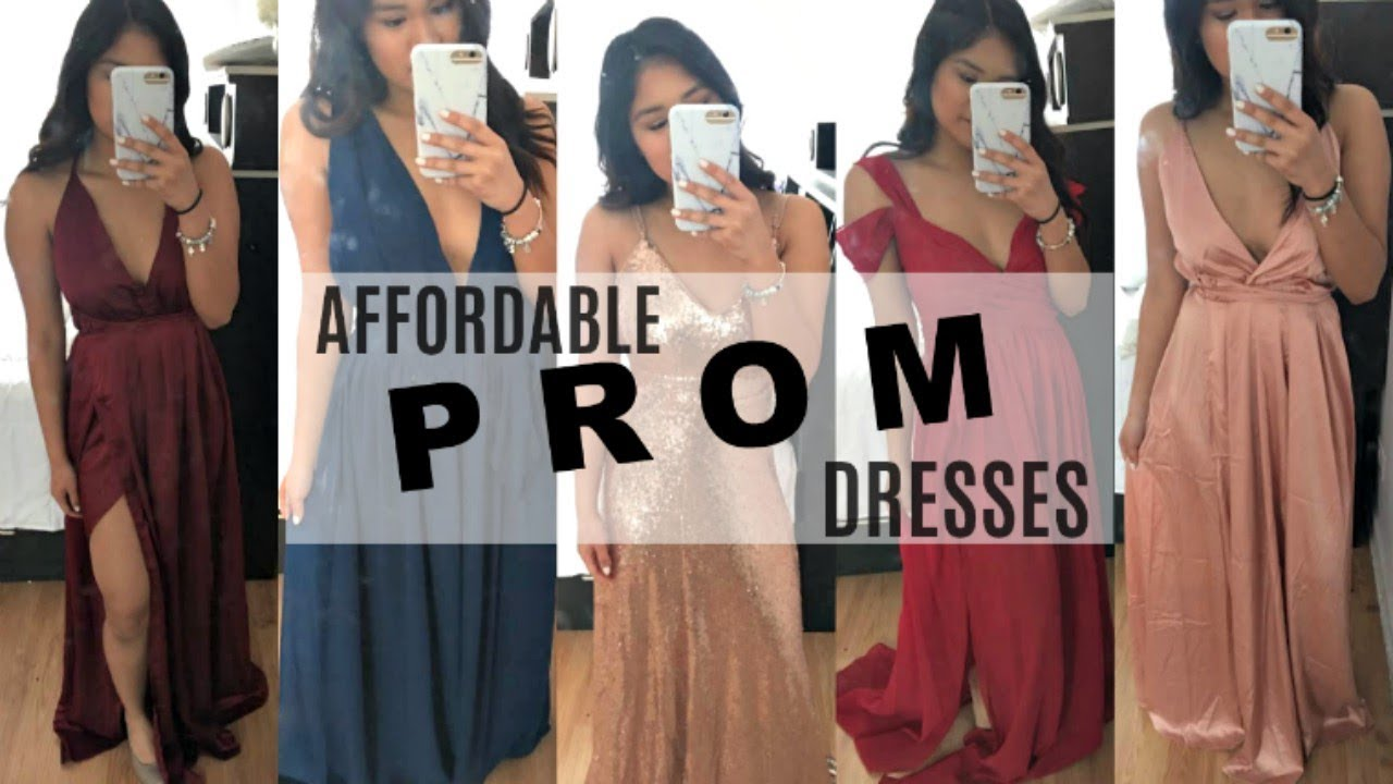 39559bf6ad Trying on Affordable PROM Dresses ft. SheIn - YouTube
