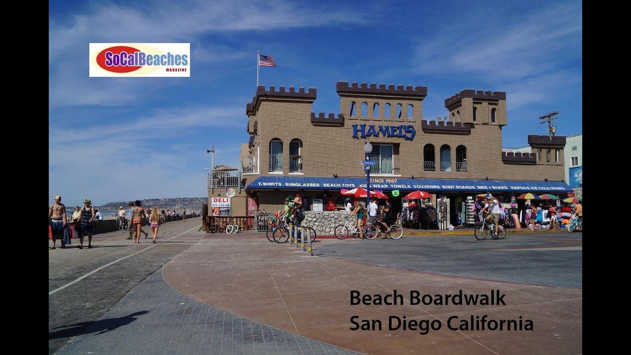 Beach Boardwalk San Diego California - YouTube