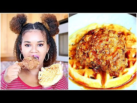 Fried Chicken and Waffles Recipe + Eat With Me (Mukbang) from YouTube · Duration:  8 minutes 6 seconds