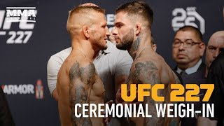 UFC 227 Ceremonial Weigh-In Highlights - MMA Fighting