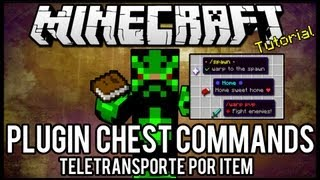 [Tutorial]Chest Commands - Teletransporte Por Item Minecraft