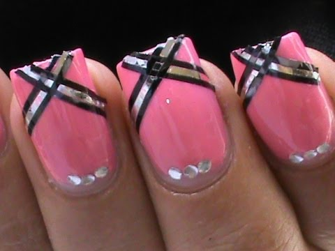 prom nail art design easy tutorial