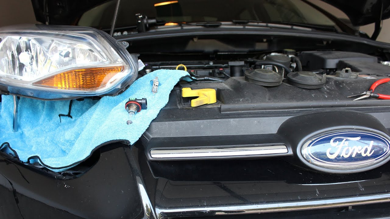 hight resolution of ford focus headlight removal and bulb replacement mk3 third gen 2011 present