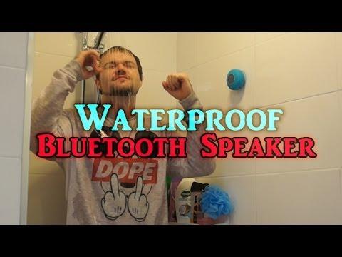 Mini Waterproof Wireless Bluetooth Speaker Shower Test + Review | DansTube.TV