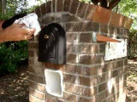 How to Install a Brick Mailbox Replacement Door - YouTube