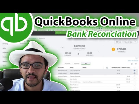 QuickBooks Online 2018 Tutorial: Reconciling the bank account (part 1 of 2)