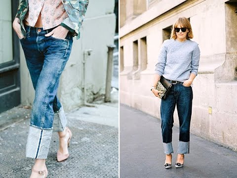 77776c6eaf5 How to wear cuffed jeans with heels - YouTube