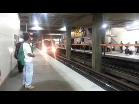 MARTA Trains at Midtown and Lindbergh Center 5/3/14
