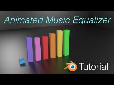 Beautiful Audio Equalizer Visualizer Animation Blender Tutorial