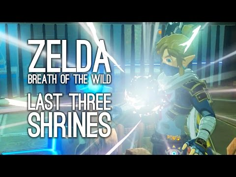 Zelda Breath of the Wild Gameplay: Getting the Last Three Shrines - GET LINK BACK TO NORMAL