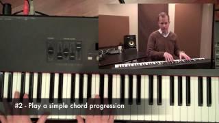العبادة لوحة المفاتيح التعليمي: اللعب في الخلفية
