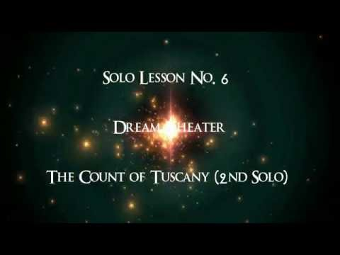 Guitar Solo Lesson No. 6 - Dream Theater - The Count of Tuscany (2nd Solo)