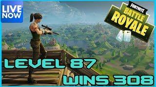 Fortnite Battle Royale - LVL 87 - 308 WINS - LIVE - (PS4 PRO) Full HD thumbnail