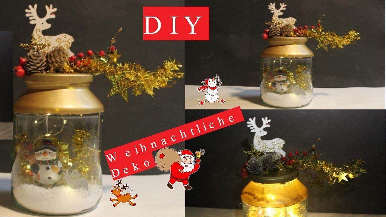 Diy Weihnachtliche Deko Im Glasdiy Christmas Décor In The Glass