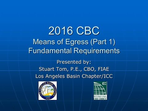 2016 CBC   Means of Egress Part 1