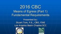2016 CBC   Means of Egress Part 1
