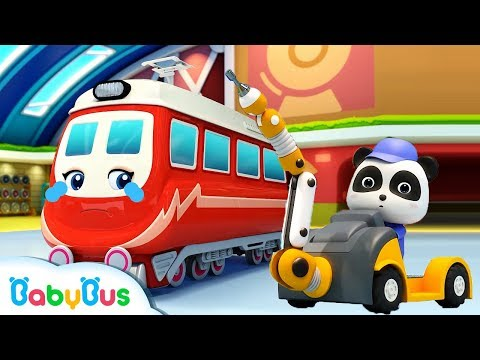 Little Panda Rescues Super Train | Super Panda Rescue Team | Thomas Train | Nursery Rhyme | BabyBus