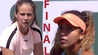 Osaka vs Kasatkina Full Highlights  BNP Paribas Open 2018  Final