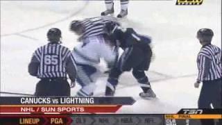 Lecavalier vs Burrows- Lightning vs. Canucks -31/1/08