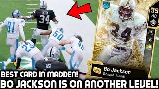 GOLDEN TICKET BO JACKSON RUNS THROUGH PLAYERS! TRUCKING & JUKING EVERYBODY! Madden 20 Ultimate Team