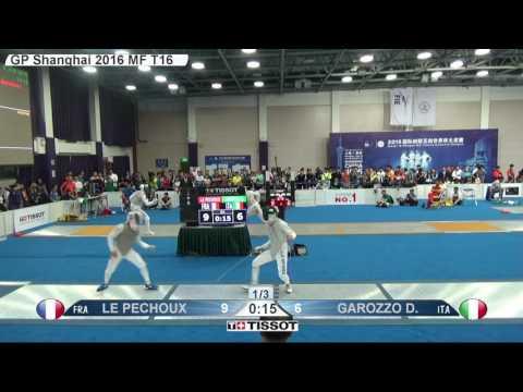 FE M F Individual Shanghai CHN GP 2016 T16 06 blue LE PECHOUX FRA vs GAROZZO ITA