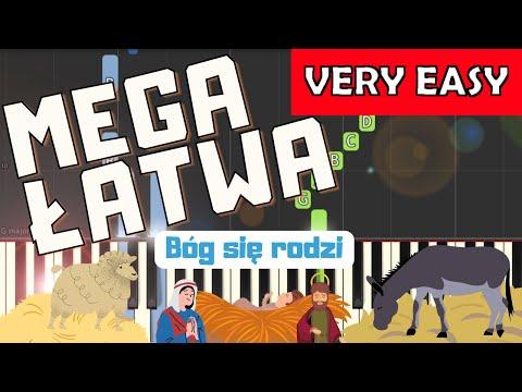 🎹 Bóg się rodzi - Piano Tutorial (MEGA ŁATWA wersja) 🎹
