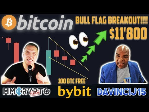 BITCOIN MASSIVE BULL FLAG BREAKOUT to $11'900 AHEAD!!  & 100 BTC BYBIT GIVEAWAY