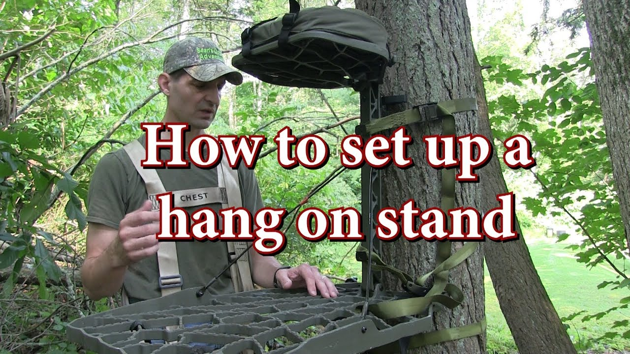 How To Set Up A Hang On Tree Stand Youtube