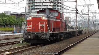JR西日本 DD51 1109号機が牽引するチキ配給を吹田駅で撮影(R1.7.22)