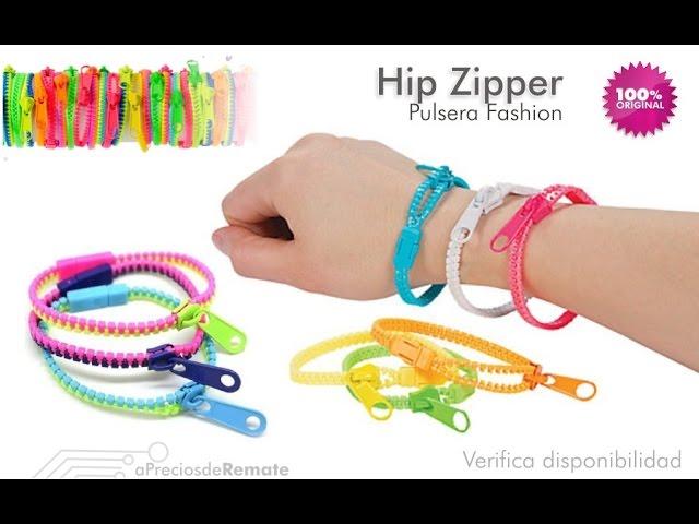 Pulseras Hip Zipper Manillas con forma de cierre, Novedosas y divertidas aPreciosdeRemate