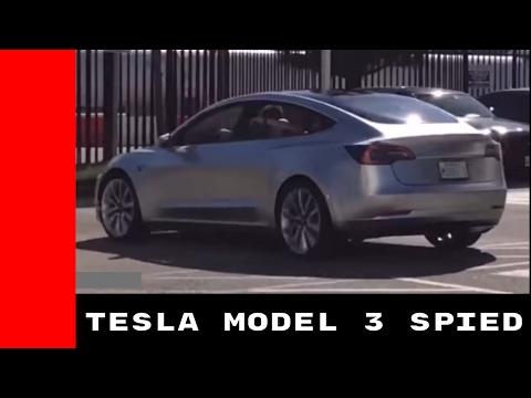 Tesla Model 3 Spied