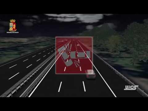 Incidente Stradale Mortale Autostrada - Video Animazione 3D Contromano